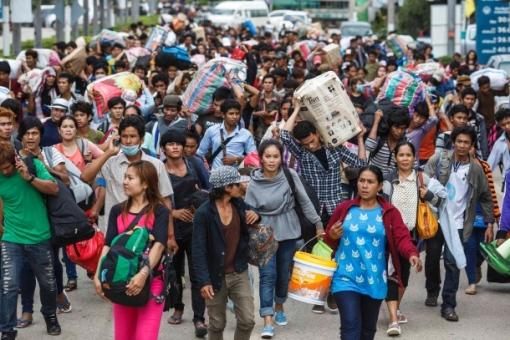 Kambodschaner verlassen Thailand